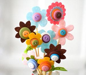 button-bouquet-craft