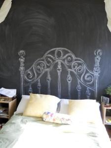 chalkboard-headboard